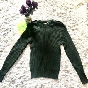 Warm army green sweater